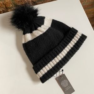 Vince Camuto black and white Beanie